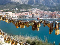 Love padlocks - stock photo