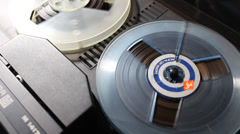 Stock Video Footage of Reel to reel tape playing