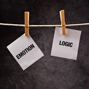 emotion or logic concept. - stock photo