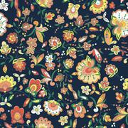 Floral pattern with colorful  blooming flowers Stock Illustration