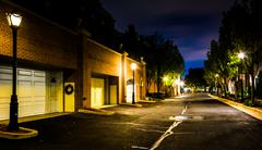 Street at night in alexandria, virginia. Stock Photos