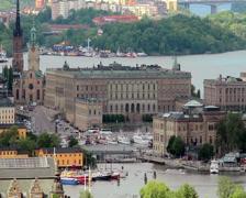 Stockholm royal palace - stock footage