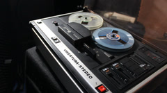 Reel to reel tape operating Stock Footage