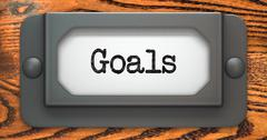 Goals - Concept on Label Holder. - stock illustration