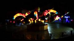 Theme Park  ride Stock Footage