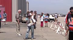 Airshow from day two of the 2014 Torrance Armed Forces Day Activities. - stock footage