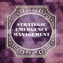 Stock Illustration of Strategic Emergency Management Concept. Vintage design.