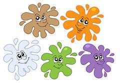 Stock Illustration of Smiling color splashes illustration