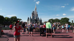 Cinderella's Castle photo spot 1 Stock Footage