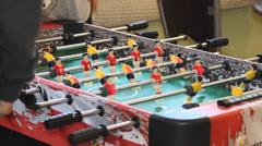 Table football, table soccer, fussball, futsal, kicker Stock Footage