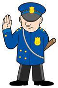 Policeman - stock illustration