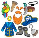 Stock Illustration of Pirate clothes collection