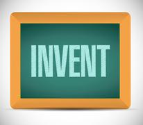 Invent message on a blackboard illustration Stock Illustration