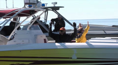 CBP Air and Marine Demonstrate Boarding a Suspect Vessel Stock Footage