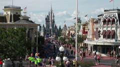 Disney World Main Street 2 Stock Footage