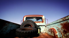 Junkyard Pickup Truck - stock footage