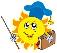 Sun teacher Stock Illustration