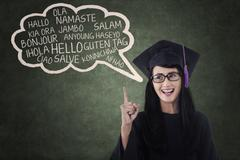 Language bachelor in class  Stock Illustration