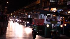 Nightlife of Bangkok city in Thailand Stock Footage