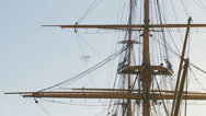 Stock Video Footage of Historic HMS Warrior -close up mast
