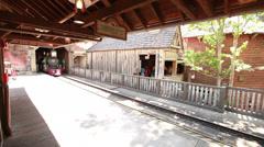 Disney train arrives Stock Footage