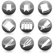Pen Books Bookmarks icons vector illustration Stock Illustration