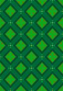 Stock Illustration of Dark green seamless background with rhombuses green shades