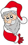Lurking Santa Claus - stock illustration