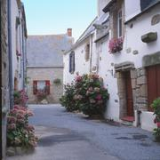 Street in Piriac-Sur-Mer. Brittany. France Stock Photos