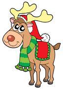 Christmas elk Stock Illustration