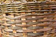 Stock Photo of woven basket bamboo texture background