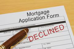 Mortgage application form Stock Photos