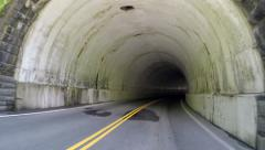 Leaving a Tunnel in the Smoky Mountain National Park Stock Footage