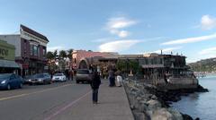 Embankment in Sausalito. California, USA. Stock Footage