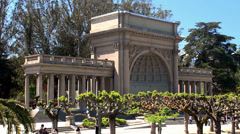 Stock Video Footage of Types of Golden Gate Park. Spreckels Temple of Music on the Music Concourse.