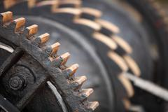 Teräs hammaspyörät metal pyydykset mekaaninen ratchets Kuvituskuvat