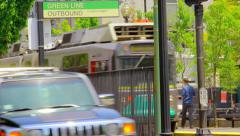 Green Line Boston MBTA Stock Footage