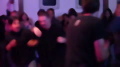Fans on a concert mosh pitting - stock footage
