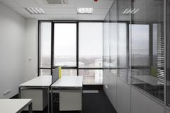 White brand new interior of office Stock Photos