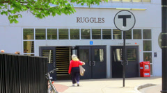 Ruggles train Stop Boston, MA Stock Footage