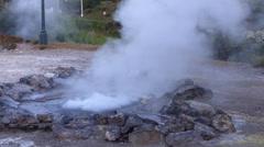Azores Furnas , Vulcanic Activity Stock Footage