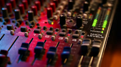 Mixing board on a concert Stock Footage