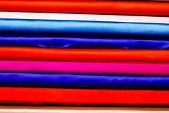 fabric colorful layer texture background - stock photo