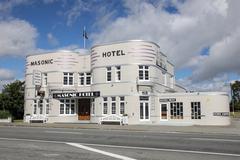 Art Deco hotel Stock Photos