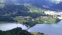 Lagoa das Sete Cidades (Seven Cities Lagoon), Azores Stock Footage