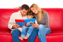 family with one child - stock photo