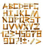 Bamboo alphabet Stock Illustration