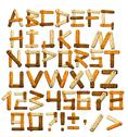 Stock Illustration of Bamboo alphabet