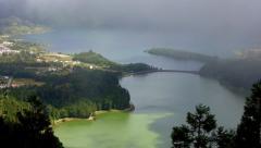 Seven Cities Lagoon , Azores Stock Footage