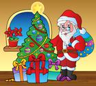 Stock Illustration of Santa Claus indoor scene 5